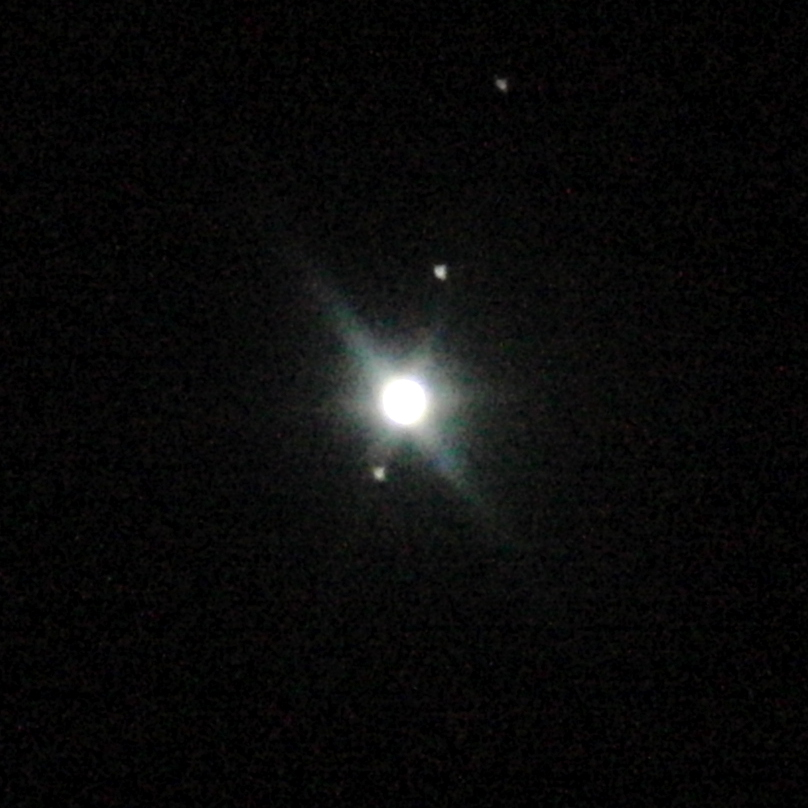 Jupiter with three moons